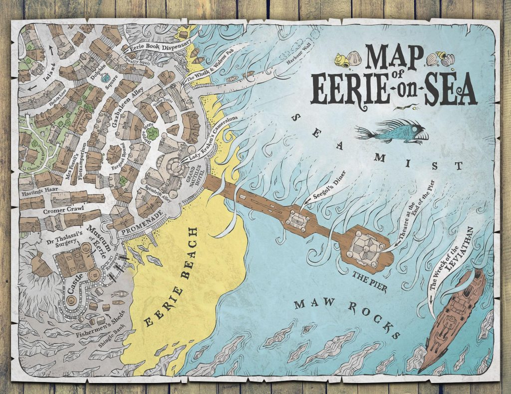 Map of Eerie-on-Sea