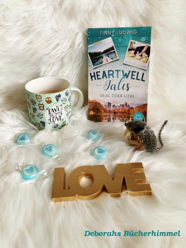 Buch Heartwell Tales mit Eulen-Tasse, Blogmaus und Love-Schriftzug