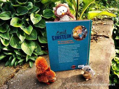 Inhalt Buch Emil Einstein von Suza Kolb mit Blogmaus, Eichhörnchen und Kauz