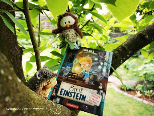 Inhalt Buch Emil Einstein von Suza Kolb mit Blogmaus und Kauz