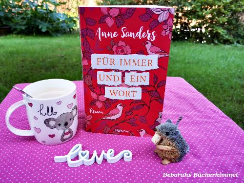 """""""Für immer und ein Wort"""" mit Blogmaus, Deko und Kaffeetasse"""