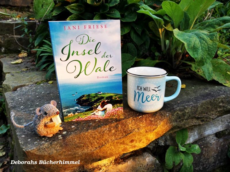 """Buch Jani Friese """"Die Insel der Wale"""" mit Blogmaus und Meer-Tasse"""